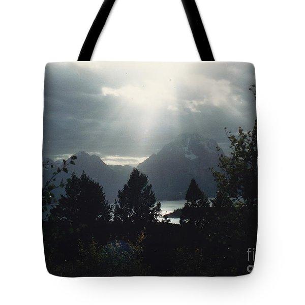 Heavenly Rays Tote Bag by Barbara Plattenburg