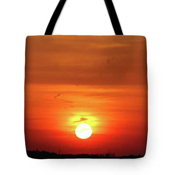 Heavenly Sunset Tote Bag by Mariola Bitner