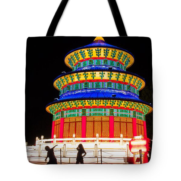Heavenly Temple Tote Bag by Semmick Photo