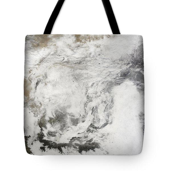 Heavy Snowfall In China Tote Bag by Stocktrek Images