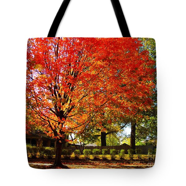 Hedge Row Tote Bag by Chris Berry