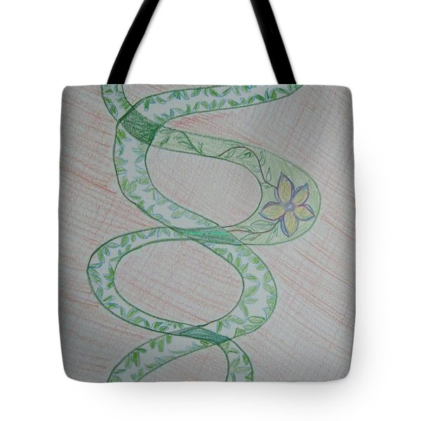 Tote Bag featuring the painting Helix  by Sonali Gangane