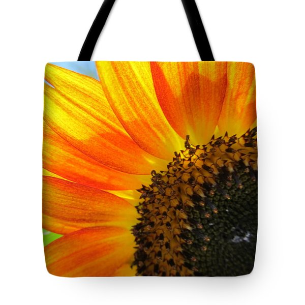 Tote Bag featuring the photograph Hello Sunflower by Tina M Wenger