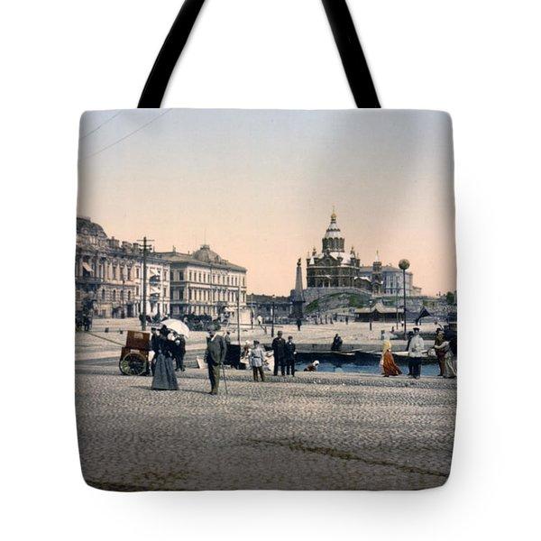 Helsinki Finland - Senate Square Tote Bag by Bode Stevenson