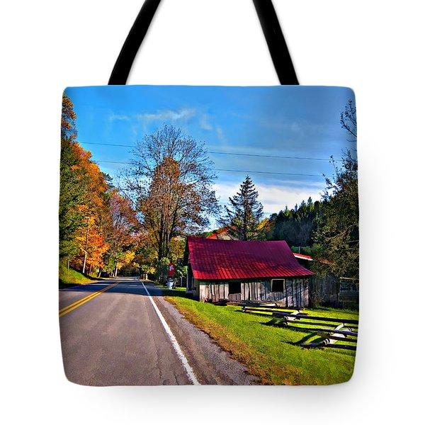 Helvetia Wv Painted Tote Bag by Steve Harrington
