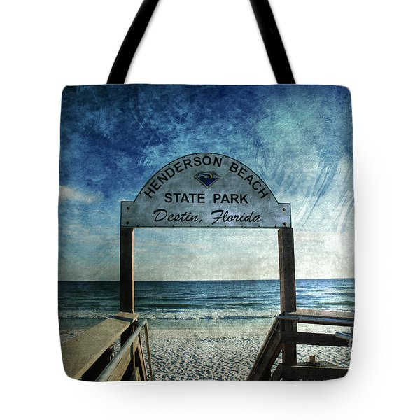 Henderson Beach State Park Florida Tote Bag by Susanne Van Hulst