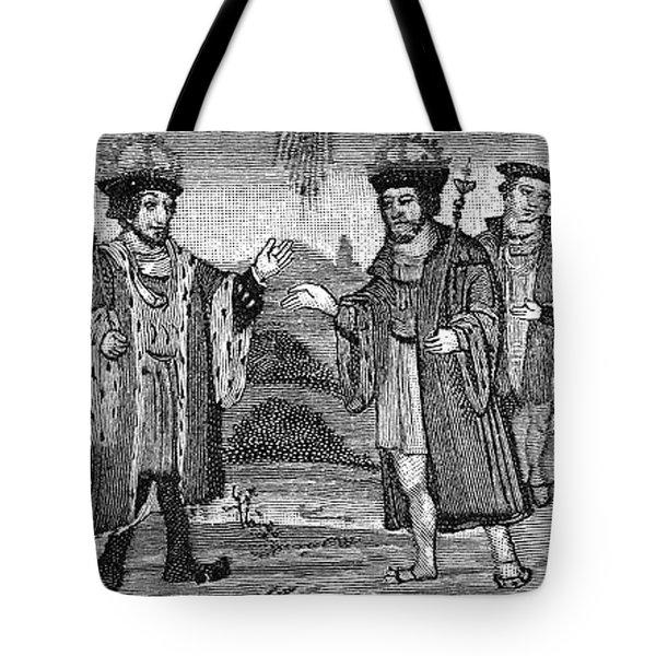 Henry Viii & Francis I Tote Bag by Granger