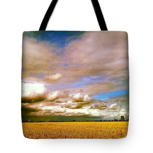 Here Comes The Rain Again Tote Bag