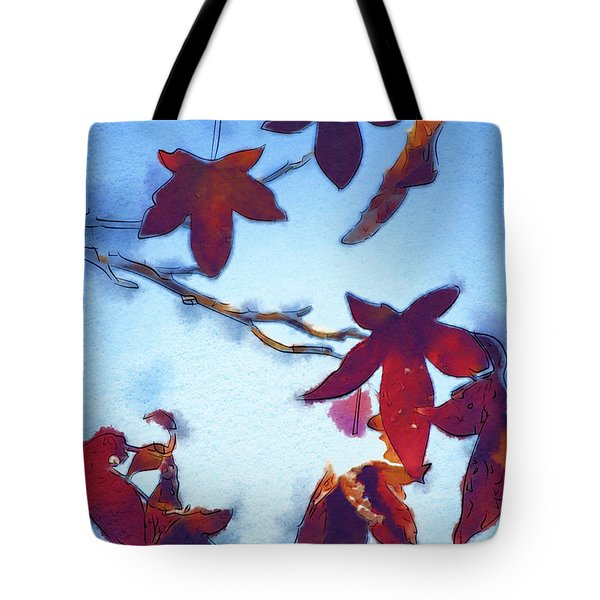 Tote Bag featuring the digital art Here Today by Holly Ethan
