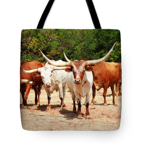Some Long Horns Ya Got There Tote Bag