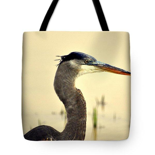 Heron One Tote Bag by Marty Koch