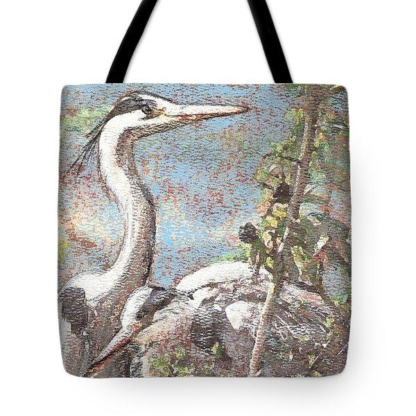Herons Resting Tote Bag