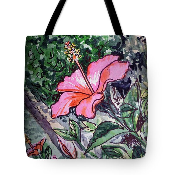 Hibiscus Sketchbook Project Down My Street  Tote Bag by Irina Sztukowski