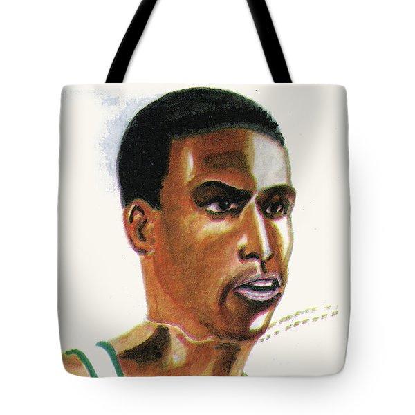 Hichan El Guerrouj Tote Bag by Emmanuel Baliyanga