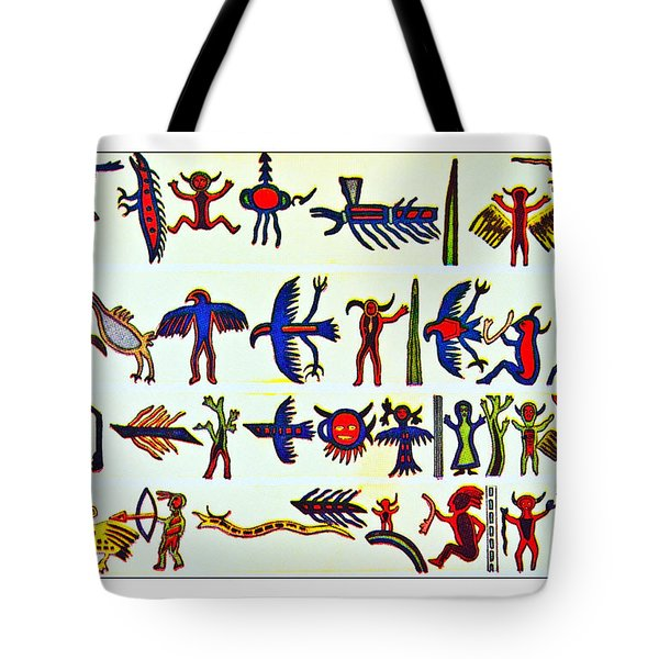 Tote Bag featuring the photograph Hieroglyphics by Susan Leggett