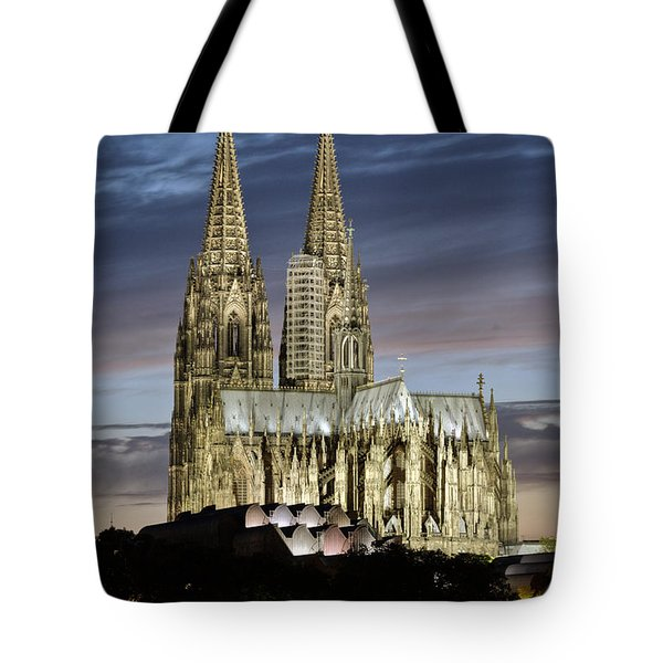 High Cathedral Of Sts. Peter And Mary In Cologne Tote Bag by Heiko Koehrer-Wagner
