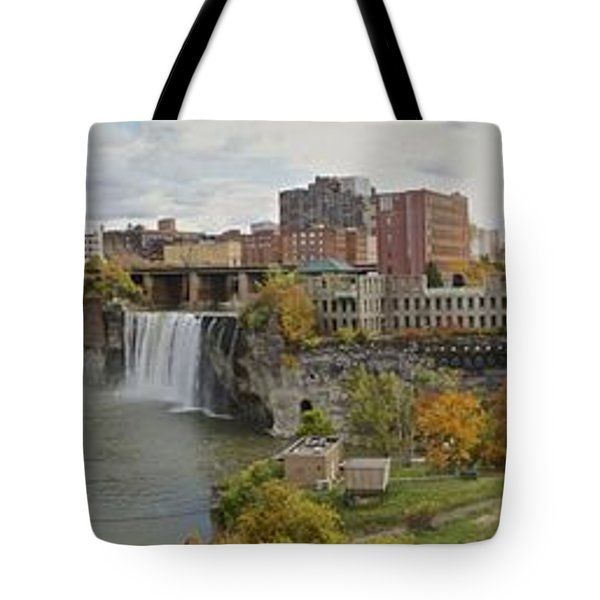 Tote Bag featuring the photograph High Falls Panorama by William Norton