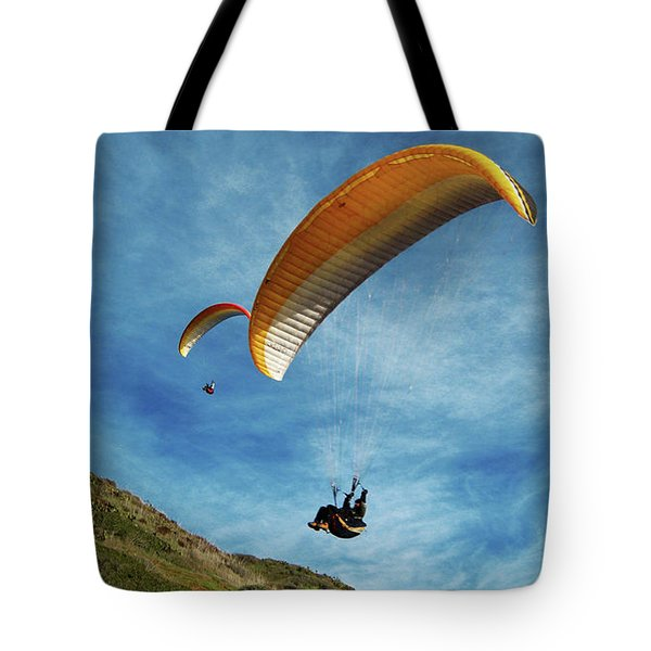 Tote Bag featuring the photograph High Flyers by Lorraine Devon Wilke