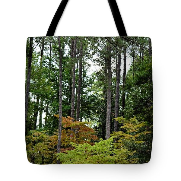 High On A Hillside Tote Bag by Maria Urso