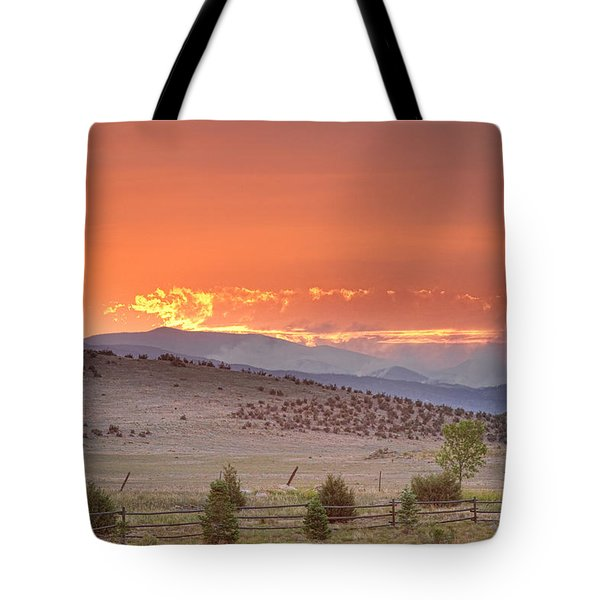 High Park Wildfire At Sunset Tote Bag by James BO  Insogna