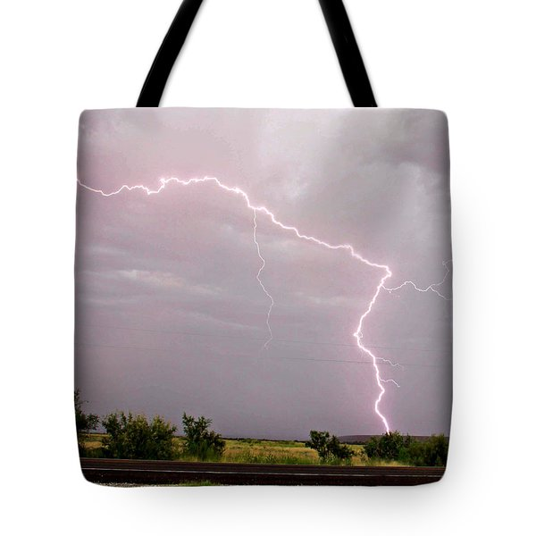 Highway 380 Strike Tote Bag by Shawn Naranjo