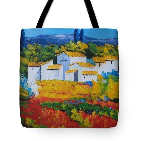 Hilltop Village Tote Bag