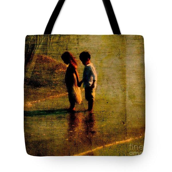His Kindergarten Sweetheart Tote Bag by Susanne Van Hulst