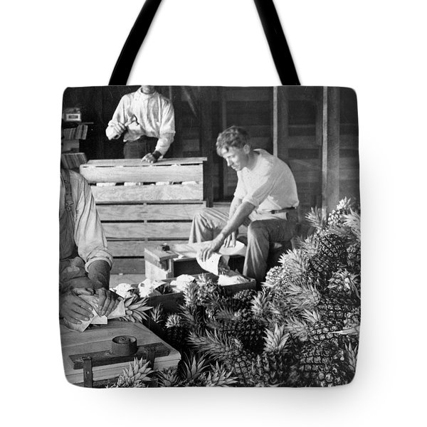 Historic Pineapple Factory - Florida - C 1906 Tote Bag by International  Images