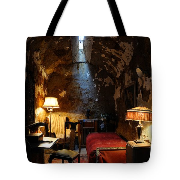 Historic Prison Cell Of Al Capone Tote Bag by Gary Whitton