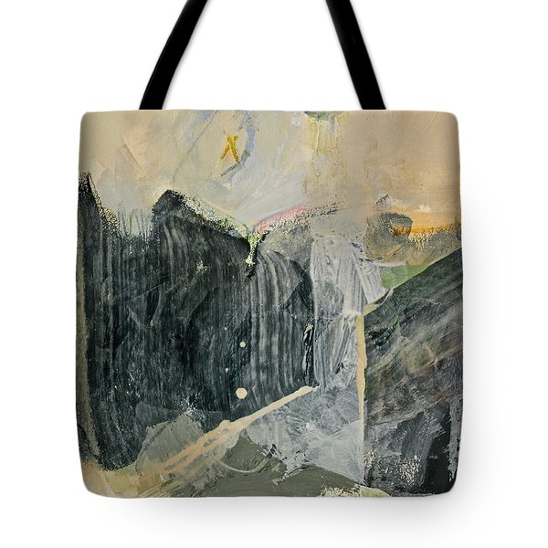Tote Bag featuring the painting Hits And Mrs Or Kami Hito E  Detail  by Cliff Spohn