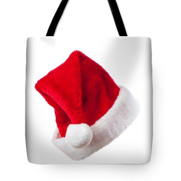 Ho Ho Ho - Santa Hat Tote Bag by Amanda Elwell
