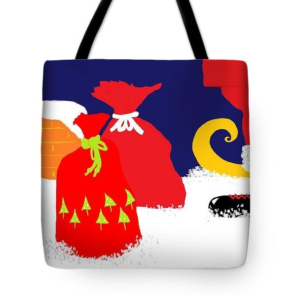 Ho Ho Ho Tote Bag by Barbara Moignard