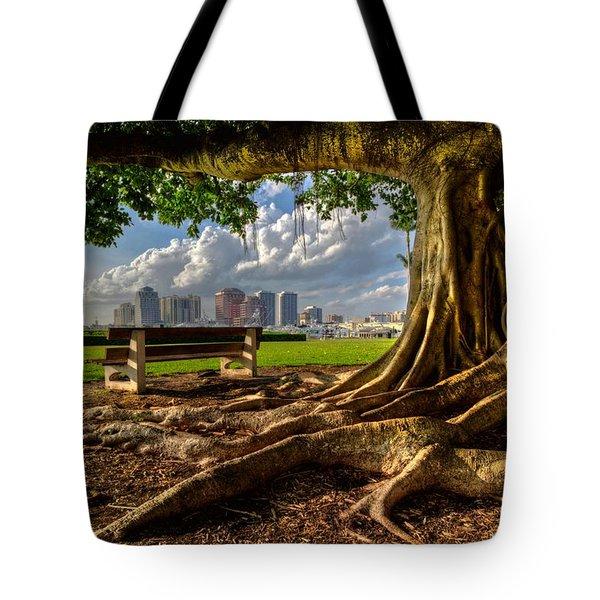 Hobbit Eyeview Tote Bag by Debra and Dave Vanderlaan