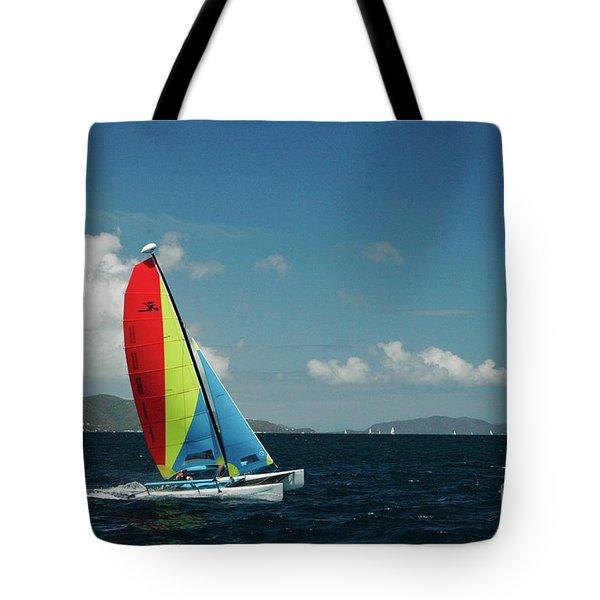 Hobiecat 1 Tote Bag by Tim Mulina