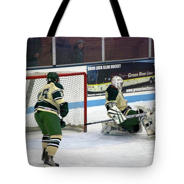 Hockey Off The Pads Tote Bag by Thomas Woolworth