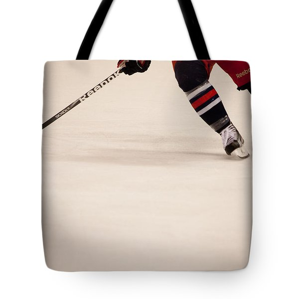 Hockey Stride Tote Bag by Karol Livote