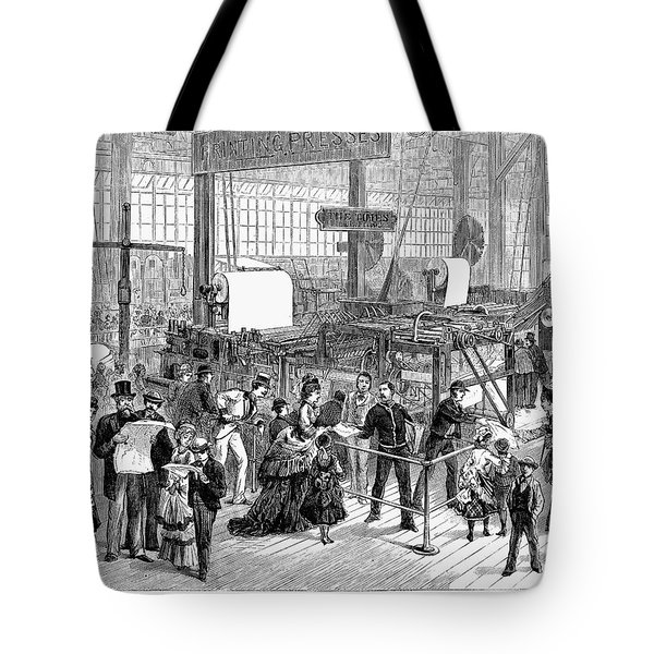 Hoe Web Printing Press Tote Bag by Granger