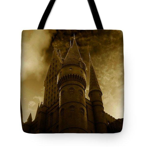 Hogwarts Castle Tote Bag by David Lee Thompson