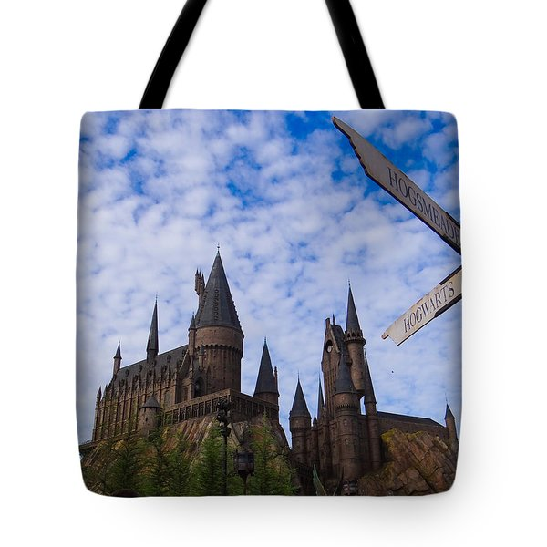 Hogwarts Castle Tote Bag by Julia Wilcox