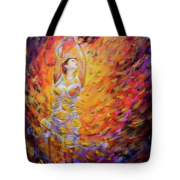 Tote Bag featuring the painting Hold Back The Rain I by Nik Helbig