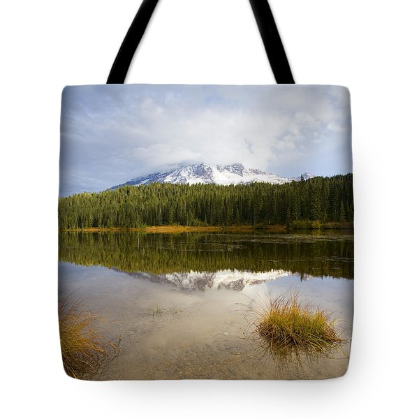 Holding Back The Tempest Tote Bag by Mike  Dawson