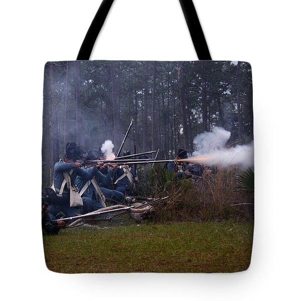 Tote Bag featuring the photograph Holding The Line by Myrna Bradshaw