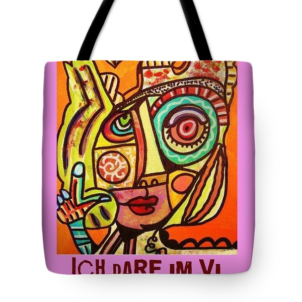 Hole In My Head - Yiddish Tote Bag by Sandra Silberzweig