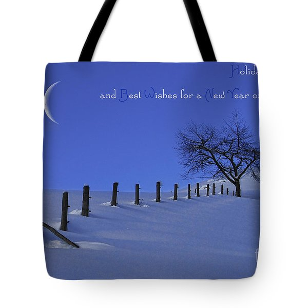 Holiday Greetings Tote Bag by Sabine Jacobs