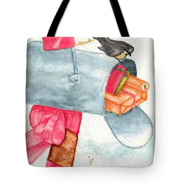 Tote Bag featuring the painting Holiday Mail by Paula Ayers