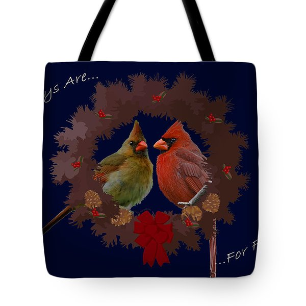 Holidays Are For Family Tote Bag by DigiArt Diaries by Vicky B Fuller