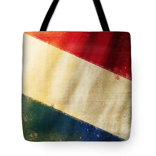 Holland Flag Tote Bag by Setsiri Silapasuwanchai