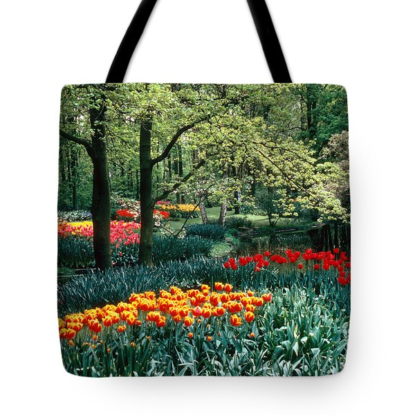 Holland Kuekenhof Garden Tote Bag by Dale P Hanson and Photo Researchers
