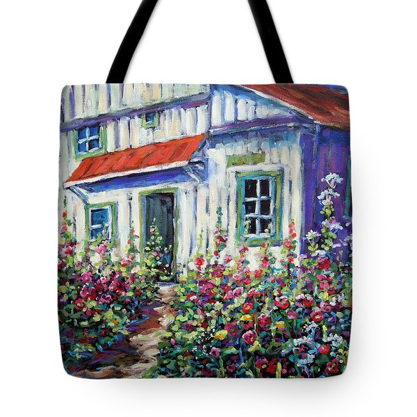 Holly Hocks And Wild Flowers By Prankearts Tote Bag