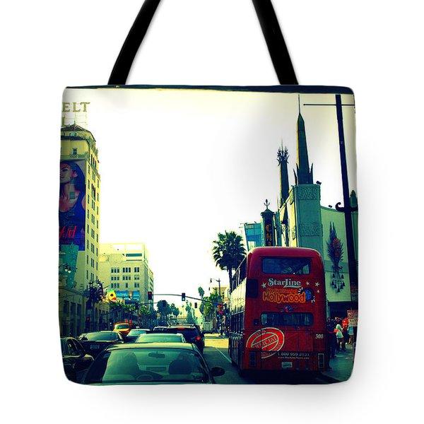 Hollywood Boulevard In La Tote Bag by Susanne Van Hulst